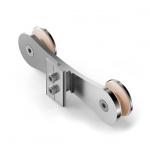 Aluminium Wandanschluss für Profil 60 x 25 mm Edelstahleffekt Geländer AKOS Alu