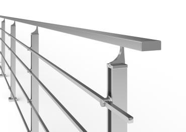 sellon 24 onlineshop edelstahl gel nder bausatz akos reling 14x14mm gel nder balkongel nder. Black Bedroom Furniture Sets. Home Design Ideas