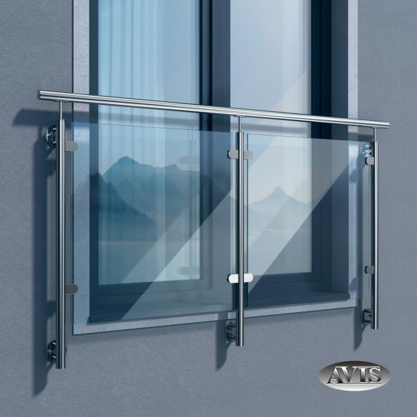Edelstahl Balkongelander Glas Franzosischer Glasgelander Balkongitter Fenstergitter