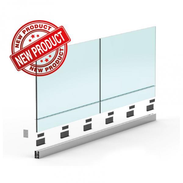 Sellon 24 Onlineshop Ganzglasgelander Bodenprofil Glasgelander