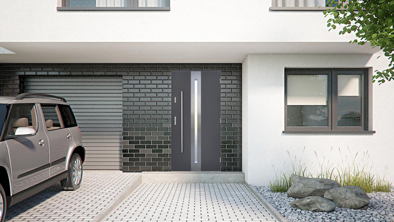 au ent r wei stahlt r haust r wohnungst r nebeneingangst r eingangst r farben ebay. Black Bedroom Furniture Sets. Home Design Ideas